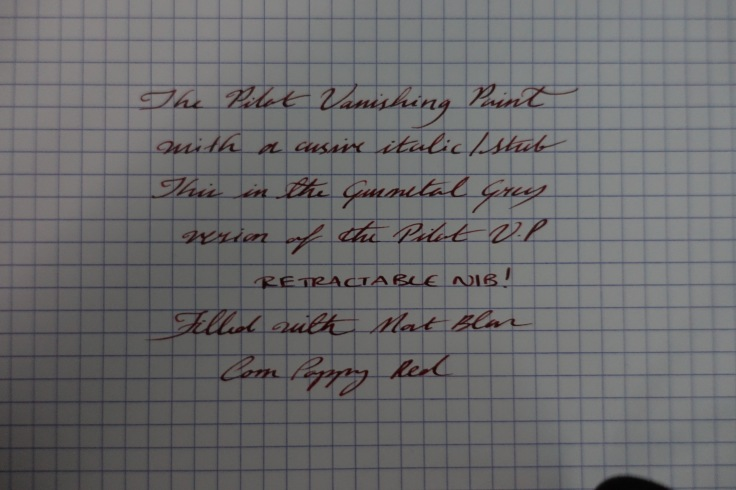 Writing sample with the ready- customised CI nib I ordered from the USA